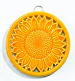 Old Dutch Two Tone Tangerine Sunflower Trivet, 8 1/4-Inch