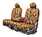 Custom Fit Seat Covers For Ford Ranger 40-60 Style Seats - Orange Camouflage