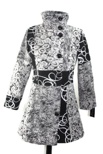 #684 Damen Designer Patchwork Winter Mantel Trenchcoat Wintermantel 36 38 40 42 (36)