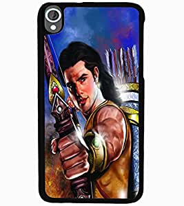 ColourCraft Lord Rama Design Back Case Cover for HTC DESIRE 820