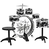 Best Choice Products 11-Piece Kids Drum Set with Bass Drum, Tom Drums, Cymbal, Stool, Drumsticks Drum Kit