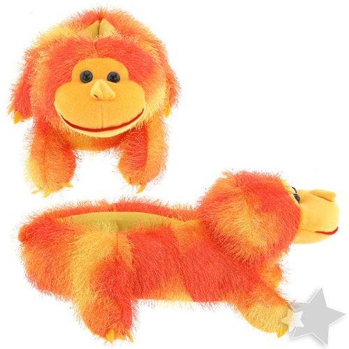 Image of Fuzzy Orangutan Orange Slippers for Women (B0077QUA5A)