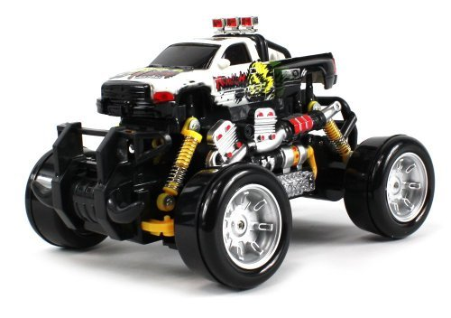 Graffiti Dodge Ram Remote Control Rc Drift Truck 1:18 Scale 4 Wheel Drive Ready To Run Rtr, Working Spring Suspension...