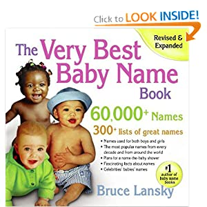 The Very Best Baby Name Book: 60,000+ Names