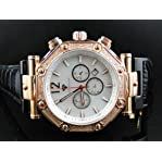 Mens Aqua Master Rose Finish Diamond Watch