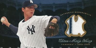 Chien Ming Wang 2008 Upper Deck Yankees Stadium Legacy Collection Memorabilia / 王建民