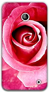 The Racoon Lean Red Rose hard plastic printed back case / cover for Nokia Lumia 630