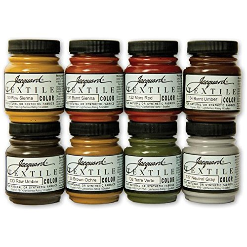 jacquard-products-jacquard-textile-color-fabric-paint-225-oz-earth-tones-pack-of-8