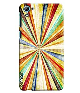 Omnam Beautiful And Simple Colorful Pattern Printed Designer Back Cover Case For HTC Desire 826