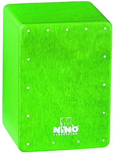 Nino Percussion NINO955GR Mini Cajon Shaker, Green