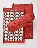 Saffron Red Hemp Acupressure Massage Mat with carry-bag