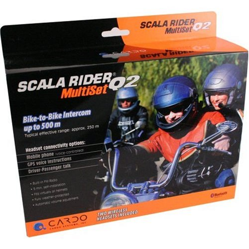 Cardo Scala Rider Q2 Multi Twinpack Bluetooth Helmet Motorcycle HandsFree Systems