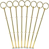 8 Sets 3 Tier Cake Plate Stand Handle Fittings Golden for Tea Shop Room Hotel