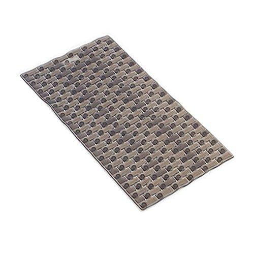 Creative Geometric Pattern Non-Slip Bath Mat with Suction Cups (39*69CM Gray)