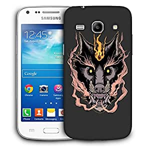 Snoogg Black Fox Designer Protective Back Case Cover For Samsung Galaxy Core Plus