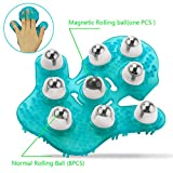 Upgraded Hand Massager Glove Handheld Body Massager Tool-360 Degree Massaging Magnetic Stone Roller Ball for Relief Musle Pain and Stress