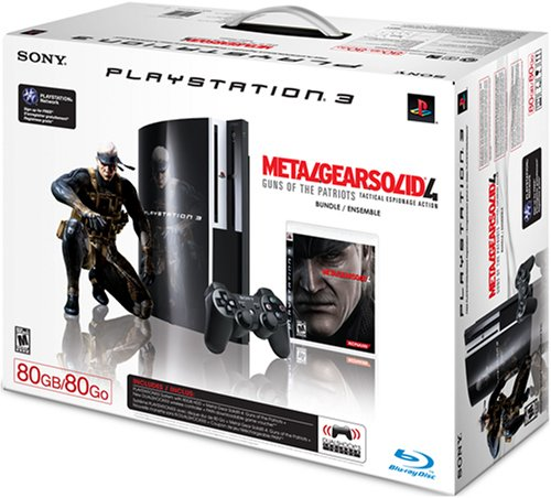 PlayStation 3 80 GB Metal Gear Solid 4 Pack