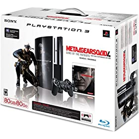 PlayStation 3 80GB Metal Gear Solid 4: Guns of the Patriots Bundle (Video Game) By Sony          15 used and new from $125.99     Customer Rating: