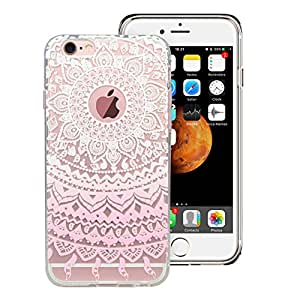 Airsspu iPhone 6S Plus Case,iPhone 6 Plus Case Hybrid[Shock Absorbing] TPU Bumper+[Scratch Resistant] Hard Back Cover with Design Protective Case for iPhone 6/6S Plus 5.5 Inch-Pink Manjusaka