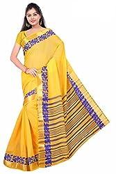 Srinidhi Silks Cotton Yellow Colour Sari (Ssi 46 a)