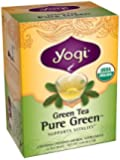 Yogi Pure Green Tea, 16 Tea Bags (Pack of 6)
