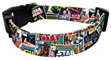 "Star Wars Comic Book Collage Design Style Dog Collar 16""-26"" x 1"""