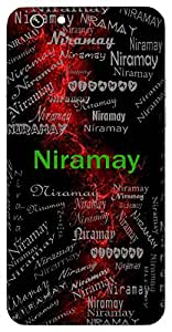 Niramay (Pure, Flawless) Name & Sign Printed All over customize & Personalized!! Protective back cover for your Smart Phone : Samsung Galaxy A-7