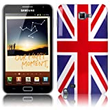 Shop4 Union Jack Print Hard Back Cover Case Skin for Samsung Galaxy Note i9220 N7000 Mobile Phone