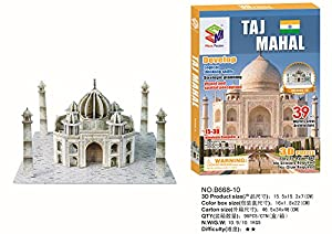 Magic Puzzle Famous Landmarks Set- STEM Learning Of The Taj Mahal And St. Basil's Cathedral 3D Puzzles