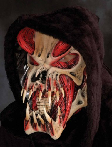 Predator Fanged Monster (red) Adult Halloween Mask
