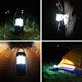 4-Pack 30 LED Lantern - iKross Collapsible Outdoor Camping Lantern with Bright 60 Lumens output - Black