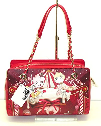 Borsa Love Moschino JC4296 donna woman handbag BAULETTO saffiano girls ROSSO