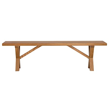 Solid Oak Large X Frame Bench – 4 Seater 170cm Long