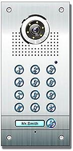 AE FarbVideotürsprechanlage mit Code 1 Familie, Außeneinheit, Edelstahlfrontplatte mit Codeschloss, Unterputzmontage, silber, SAC562CCK(1)  BaumarktÜberprüfung und weitere Informationen