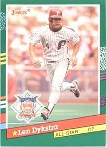 1991 Donruss # 434 Lenny Dykstra AS Philadelphia Phillie Baseball Card