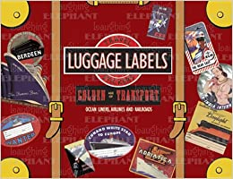 Old fashioned luggage labels book
