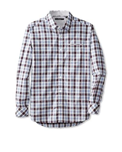 7 Diamonds Men's A Boy Can Dream Washed Checked Long Sleeve Shirt