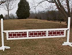3 Panel Brick Pattern Gate Wood Horse Jumps 12ft