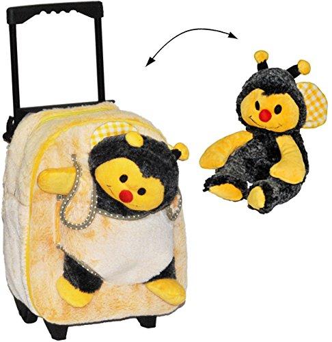 3-in-1-Trolley-Rucksack-Kuscheltier-Biene-fr-Kinder-Tiere-Trolly-Kindertrolley-Kindertrolly-Plsch