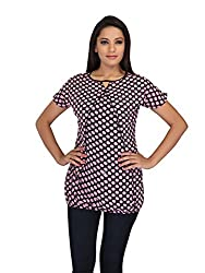 lol Multi-Coloured Color Polka Dot Casual Top for women