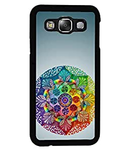 PRINTVISA Rangoli Pattern Premium Metallic Insert Back Case Cover for Samsung Galaxy E5 - E500F - D6119