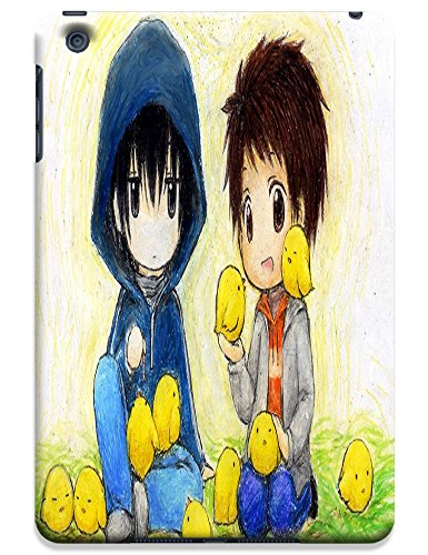 Two Boys Plays Together With Yellow Baby Chickens Happy Cell Phone Caese For Apple Accessories Ipadmini Ipad Mini