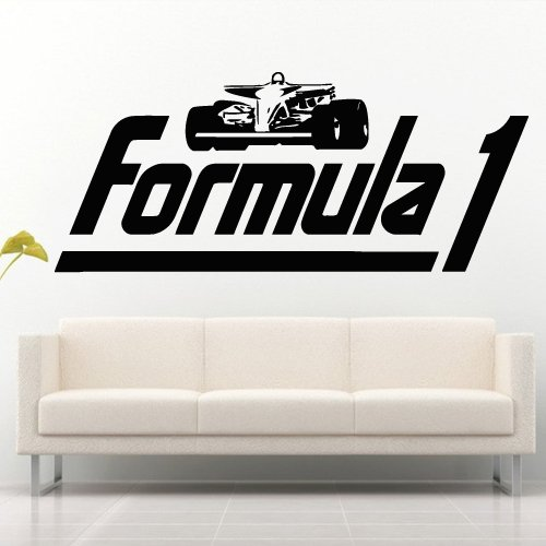 Wall Decal Decor Decals Art Sticker Cars Race Bolide Track Speed Formula 1 Wheel Gift (M792) front-1057040