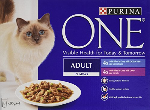 purina-one-adult-wet-cat-food-ocean-fish-and-lamb-mini-fillets-in-gravy-8-x-85-g-pack-of-5