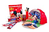 Disney Kids Gift Collection, Junior Mickey Mouse Super! Baseball Cap Children's Candy Gift Set Including Mickey Mouse Pez Dispenser, Air Heads, Jelly Bellys, Laffy Taffy, and Hi-Chew Fruit Chews, Great Gift for Kids!