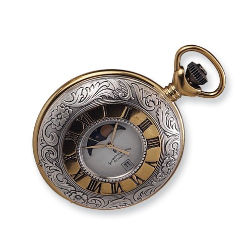 Jacques du Manoir Two-tone Moon Phase Pocket Watch
