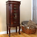 Petrus Provincial 6-Drawer Jewelry Cabinet Armoire - Mahogany (MSRP:$300)