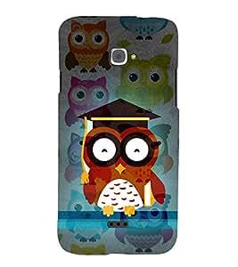 Girl ka Ullu Owl 3D Hard Polycarbonate Designer Back Case Cover for InFocus M350