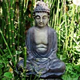 Decorative Buddha Garden Ornament In Stone Look Resin