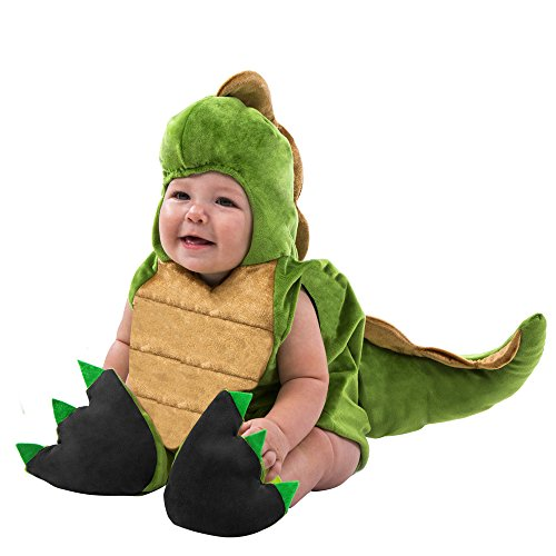 Boo Babies Halloween Costume Tiny T Rex Dinosaur Sz 0-9 Months 3 Pieces Green